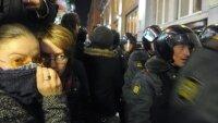 Вторая ночь протестов в Москве