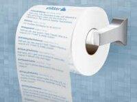 Сообщения из Twitter  на туалетной бумаге