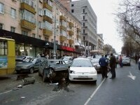 На Дубнинской улице Москвы произошла крупная автомобильная авария