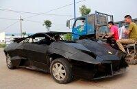 Китайский автослесарь собрал Lamborghini из металлолома
