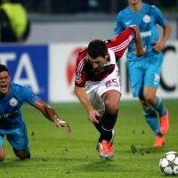 «Зенит» дома потерпел поражение от «Милана» в Лиге Чемпионов
