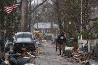 Нью-Йорк засыпало снегом