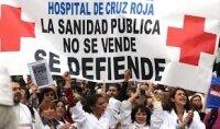 В Мадриде протестуют медицинские работники