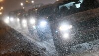 Сильный снегопад начался в Алма-Ате