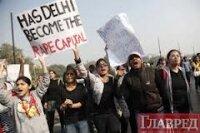 Протесты в защиту жертв изнасилований в Индии