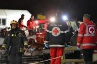 В итальянских Альпах восемь российских туристов разбились на снегоходе