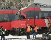 Столкновение двух поездов в Вене.
