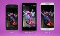 Nokia показали своё превосходство перед iPhone 5 и Galaxy S4