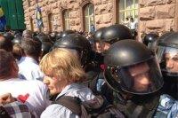 Украинские оппозиционеры штурмовали Киевсовета