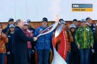 Путин дал старт олимпийской эстафете по России