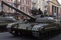Украина: пожар в танковой бригаде
