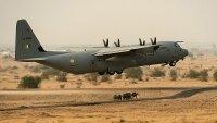 В Индии разбился военный грузовой самолет