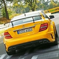Mercedes-Benz C63 AMG Black Series оказался быстрее Ferrari 599
